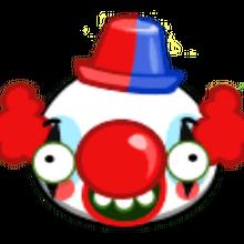 Свинья с веснушками в костюме клоуна.png