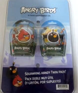 Angry Birds Gear4 Tweeters 2-Pack Red Bird and Bomb Bird