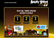 Angry Birds Lotus F1 team level screen