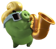 Cerdo Saxofonista Angry Birds Action Trailer