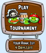 Pirate Tournament Menu