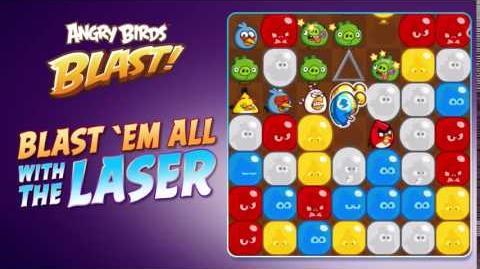 Angry Birds Blast - Laser Gun tutorial