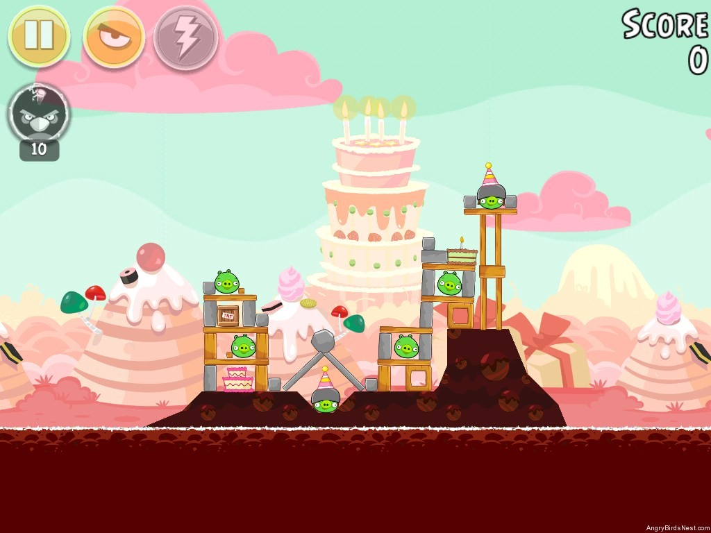 Birdday Party Cake 4 Level 2