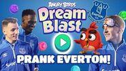Angry Birds Dream Blast pranks Everton!