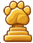 Cheese Paw Statue
