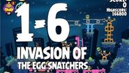Angry Birds Seasons Invasion of the Egg Snatchers 1-6 Walkthrough 3 Star