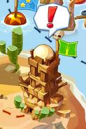 Пустынный свинский замок неразрушенный