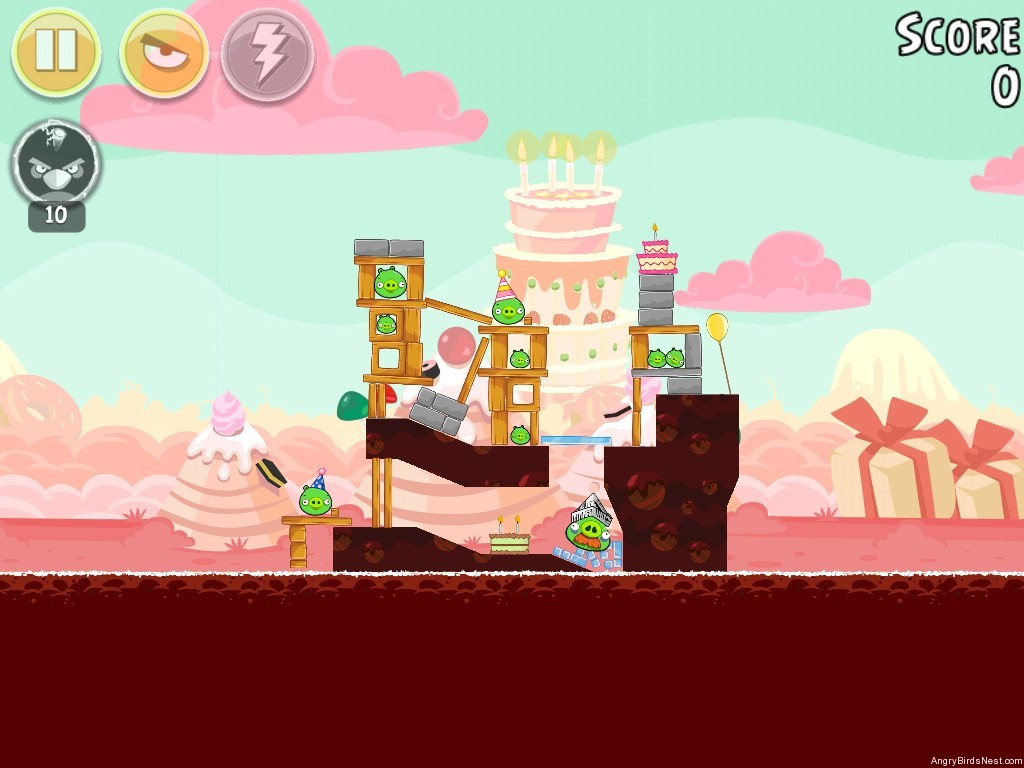Birdday Party Cake 4 Level 1