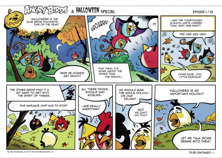 Angry Birds Ham'o'ween Comic
