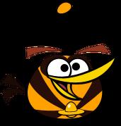 Orange bird spaced