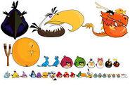Многие птицы