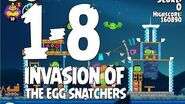 Angry Birds Seasons Invasion of the Egg Snatchers 1-8 Walkthrough 3 Star