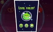 Angry Birds Space - проигрыш