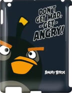 Angry Birds Gear4 Bomb Bird Don't get mad, -get- ANGRY! IPad 3 Case (Black Edition)