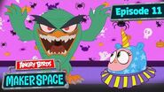 Angry Birds MakerSpace Scary Hatchling Halloween - S1 Ep11