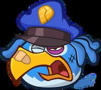 Very hurt blue eagle