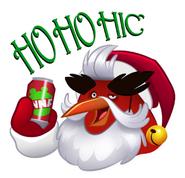 Angry Santa Sticker