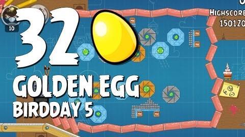 Angry Birds BirdDay Golden Egg 32 Walkthrough