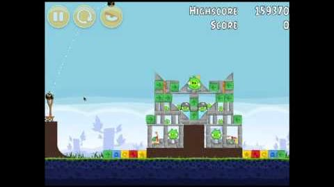 Angry Birds Chrome Dimension 14 3 Star Walkthrough