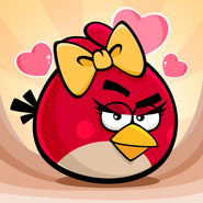 Angry Birds Seasons Square Icon Hogs and Kisses
