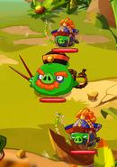 Ниндзя-лучник на уровне