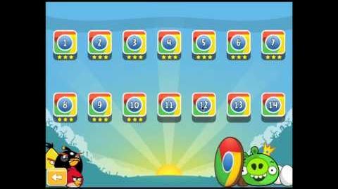 Angry Birds Chrome Dimension 12 3 Star Walkthrough