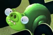 Свинья-улитка на плакате серии Pig Plot Potion