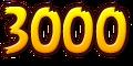 Yellow 3,000 Points Sticker