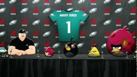 Angry Birds join Philadelphia Eagles