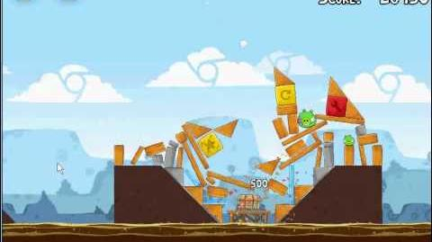 Angry Birds Chrome Dimension 4-1 3 Stars Walkthrough