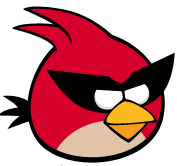 Red bird spaced