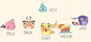 Gromadka w Angry Birds Stella