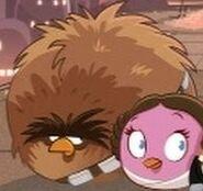 Чуи и Лея в ролике в ролике Cloud City