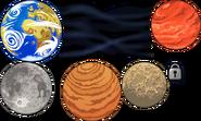 SOLAR SYSTEM THEME PARALLAX 1 LEVELS 1 5