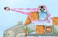 Pink Bird Pulling Stormtrooper