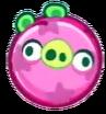 Cerdo con bola de resorte