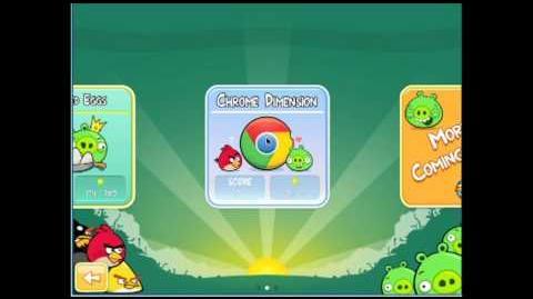 Angry Birds Chrome Dimension 7 (4-7) 3 Star Walkthrough