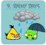 Angry Birds Episode 9 - Rainy Days - Button