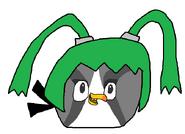 Silver as Dark Green Robot