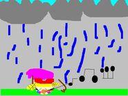 Rain, rain. Go away