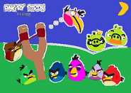 Angry Birds Galaxy Some Birds and Some Pigs