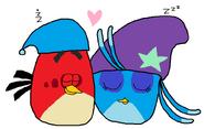 Red y Willow durmiéndose