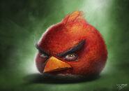 Realistic red bird