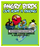 Angry Birds Our Home Is Sinking Plush Tag