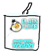 Angry Birds Plain Yogurt