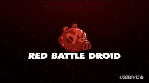 Angry Birds Star Wars II Red Battle Droid-3