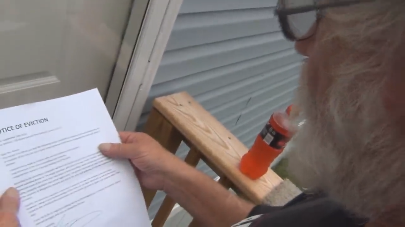 Angry Grandpa Gets Evicted