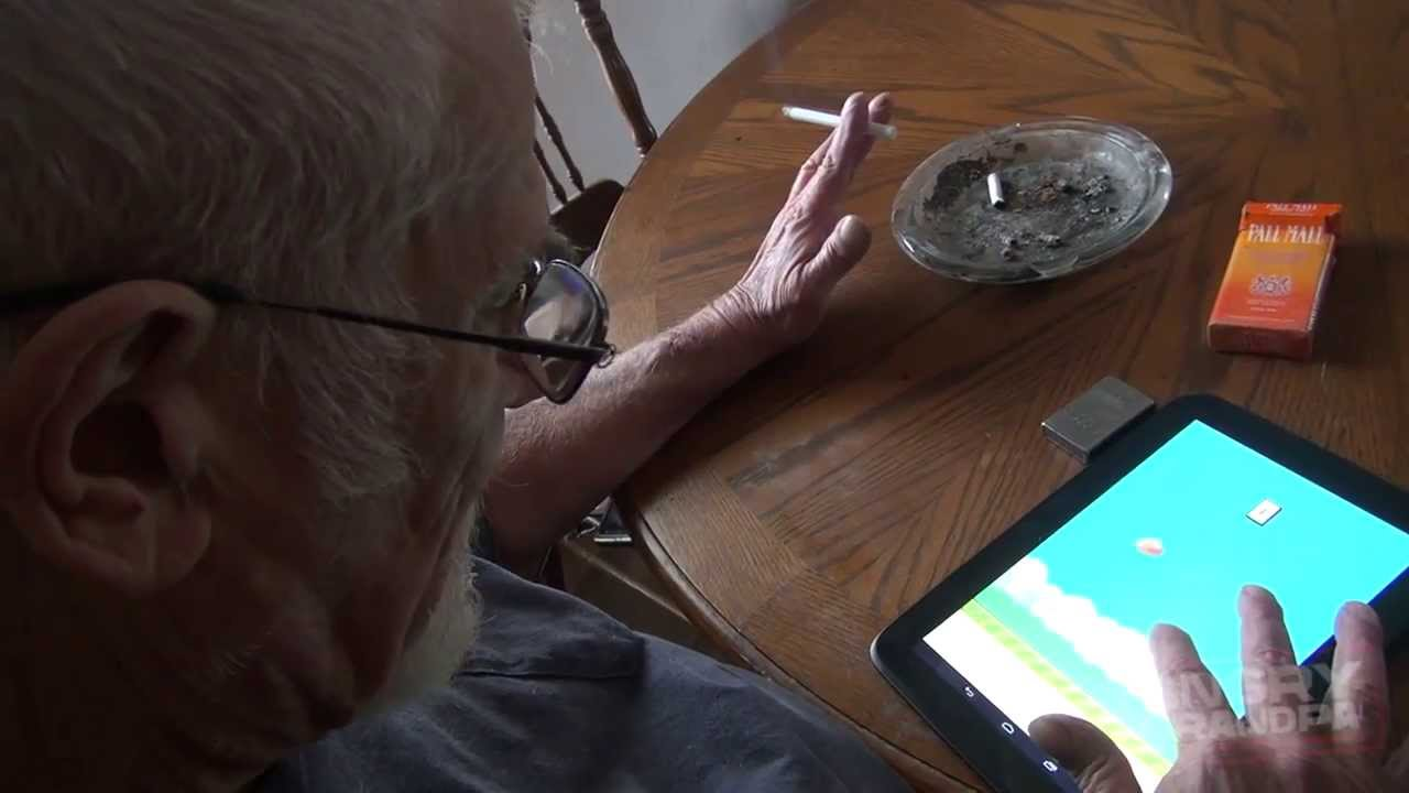 Angry Grandpa Plays Flappy Bird