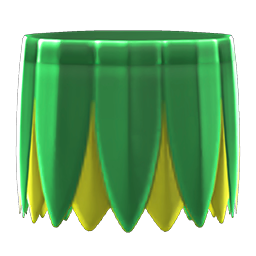 Green grass skirt