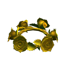 Gold rose crown